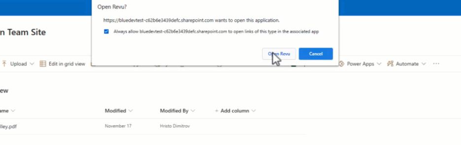Bluebeam Revu - SharePoint integration